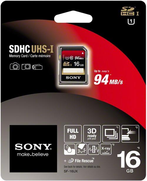 Sony Expert SDHC 16GB Class10 +FileResc
